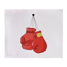 Boxing Gloves Throw Blanket