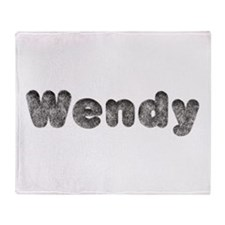 Wendy Wolf Throw Blanket