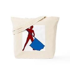 Flag Girl Tote Bag