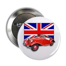 """Red MG TD with Union Jack 2.25"""" Button (10 pack)"""