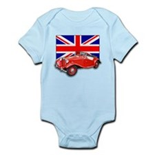 Red MG TD with Union Jack Infant Bodysuit