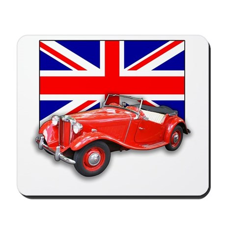 Red MG TD with Union Jack Mousepad