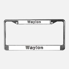 Waylon Wolf License Plate Frame