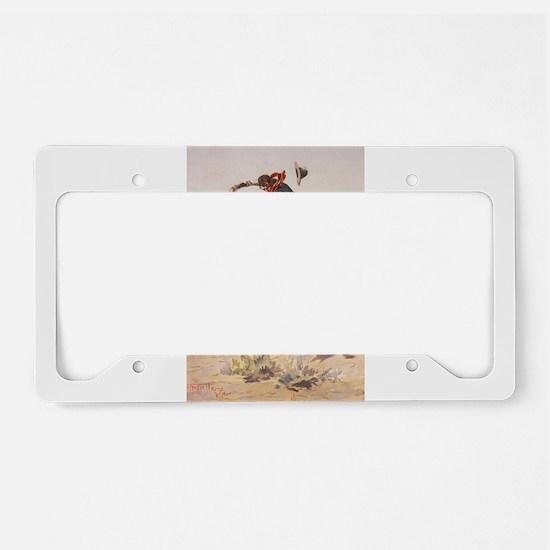 Unique Cowboy License Plate Holder