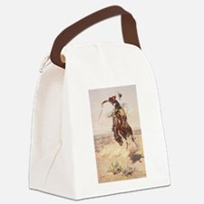 Cool Cowboy Canvas Lunch Bag