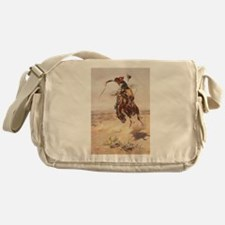 Cute Cowboy Messenger Bag