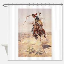 Cute Cowboy Shower Curtain