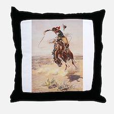 Funny Wild west Throw Pillow