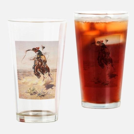 Cute Cowboy Drinking Glass
