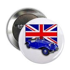 """Blue MG TD w Union Jack 2.25"""" Button (10 pack)"""