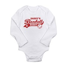 Daddy's Baseball Buddy Long Sleeve Infant Bodysuit