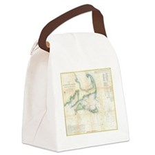 Vintage Map of Cape Cod (1857) Canvas Lunch Bag