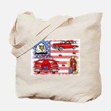 Classic Car Collage Tote Bag
