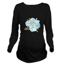 Aquatic Aristocrat Long Sleeve Maternity T-Shirt