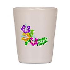 Tropical Hibiscus Shot Glass