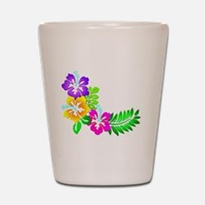 Tropical Hibiscus Shot Glass