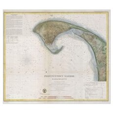 Vintage Map of Provincetown Poster
