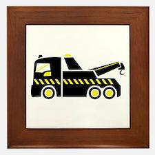 Tow Truck Framed Tile