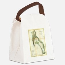 Vintage Map of The San Diego Bay  Canvas Lunch Bag