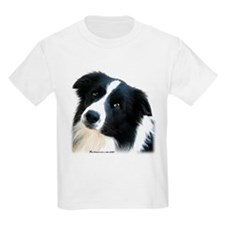 Border Collie Portrait Water Colour Kids T-Shirt