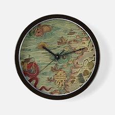 Antique Map Wall Clock