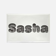 Sasha Wolf Rectangle Magnet