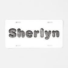 Sherlyn Wolf Aluminum License Plate