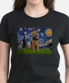 Starry Night & Airedale #6 Tee