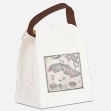Vintage Map of Cuba (1861) Canvas Lunch Bag