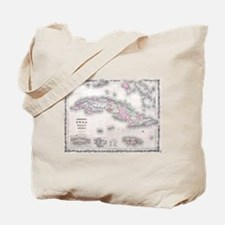 Vintage Map of Cuba (1861) Tote Bag