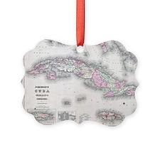 Vintage Map of Cuba (1861) Ornament