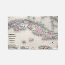 Vintage Map of Cuba (1861) Rectangle Magnet