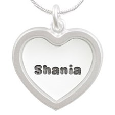 Shania Wolf Silver Heart Necklace