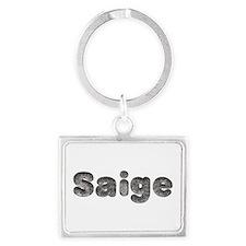 Saige Wolf Landscape Keychain