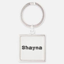 Shayna Wolf Square Keychain
