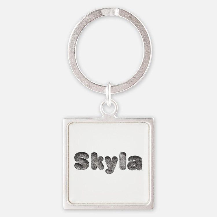 Skyla Wolf Square Keychain