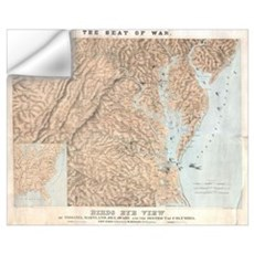 Vintage Map of The Chesapeake Bay (1861)  Wall Decal
