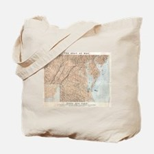 Vintage Map of The Chesapeake Bay (1861)  Tote Bag