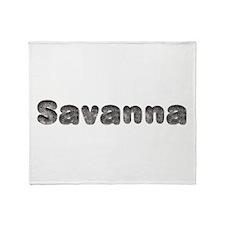 Savanna Wolf Throw Blanket