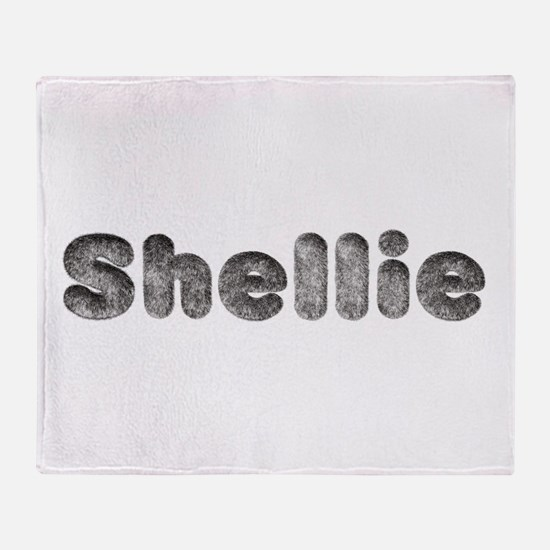 Shellie Wolf Throw Blanket