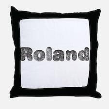 Roland Wolf Throw Pillow