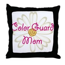 Color Guard Mom Throw Pillow