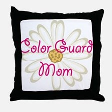 Color Guard Mom Throw Pillow