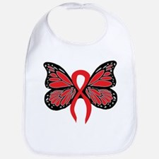 Red Butterfly Ribbon Bib