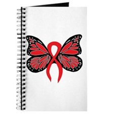Red Butterfly Ribbon Journal