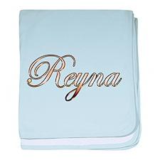 Gold Reyna baby blanket