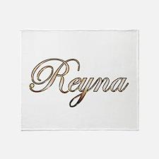 Gold Reyna Throw Blanket