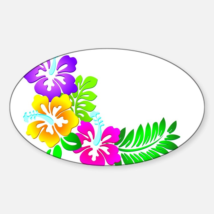 Tropical Hibiscus Decal