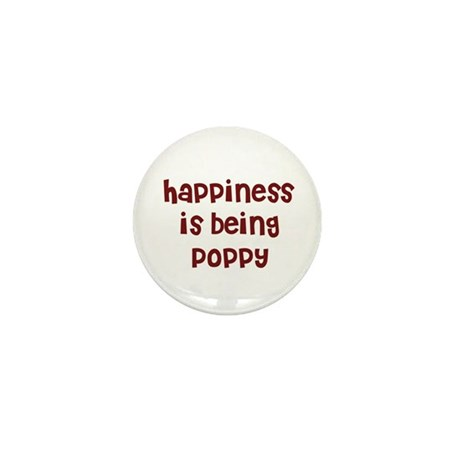 happiness is being Poppy Mini Button (10 pack)