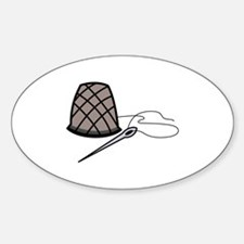 Thimble and Needle Decal